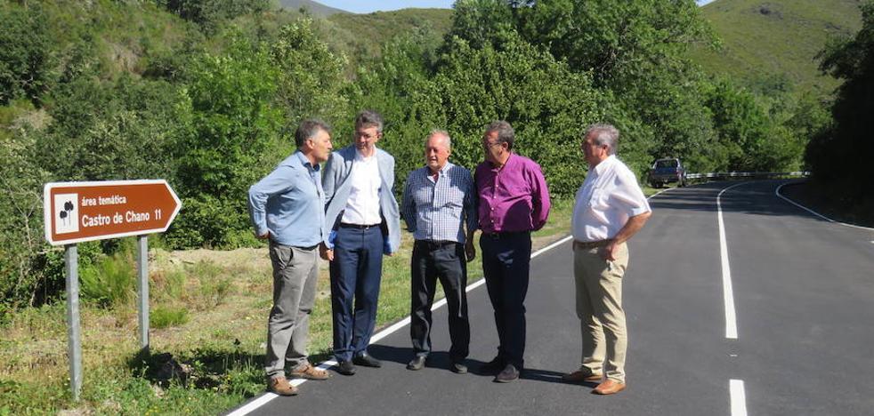 La Diputación finaliza un tramo de la carretera entre Fabero y Guímara tras invertir cerca de 200.000 euros