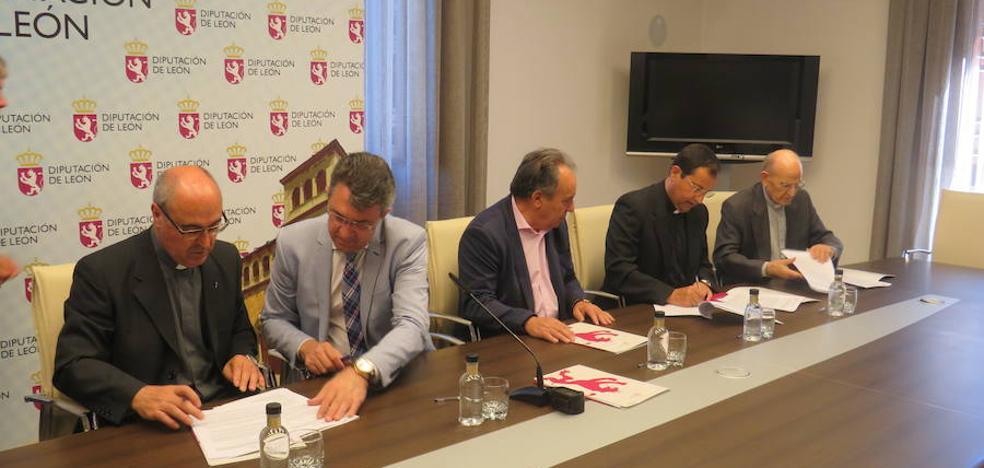 Diputación y la Diócesis de Astorga firman un convenio de 200.000 euros para el arreglo de templos