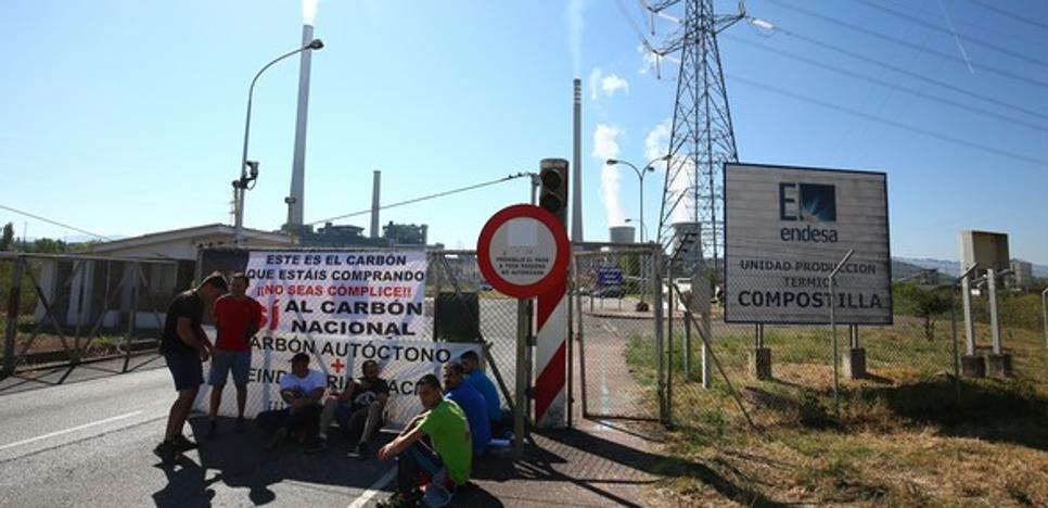Mineros de Astur Leonesa retomarán el lunes las concentraciones a las puertas de la central de Compostilla