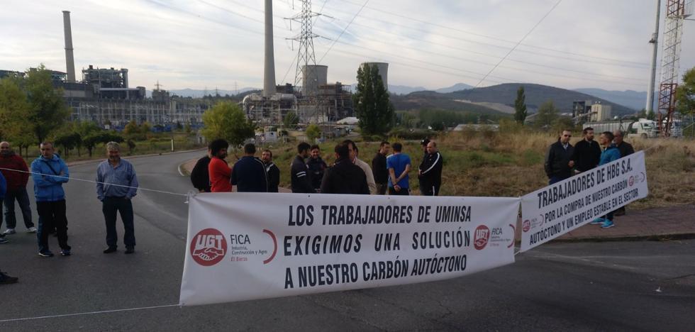 Mineros de Uminsa y HBG exigen ante Compostilla que Endesa que garantice la compra de carbón nacional para reactivar el empleo