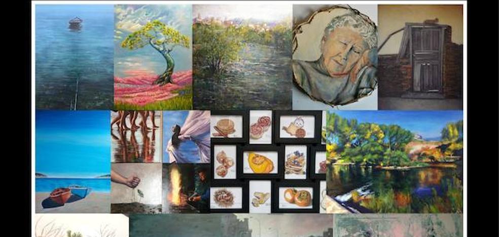 22 pintores bercianos exponen sus obras en la Casa de la Cultura de Ponferrada