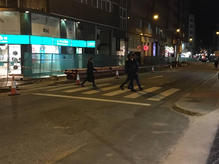Corte al tráfico de la calle Camino de Santiago