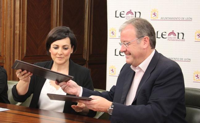Ayuntamiento de León y EspañaDuero ayudan a los jóvenes a emanciparse para fijar población en la capital