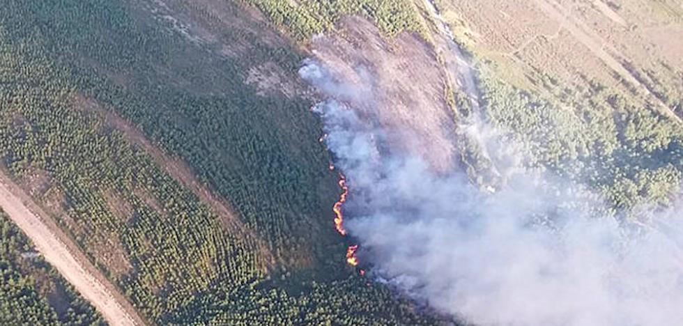 Controlado el incendio declarado este domingo en Rabanal del Camino