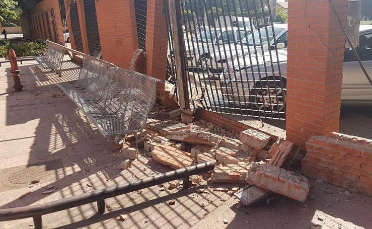 Aparatoso accidente en La Bañeza