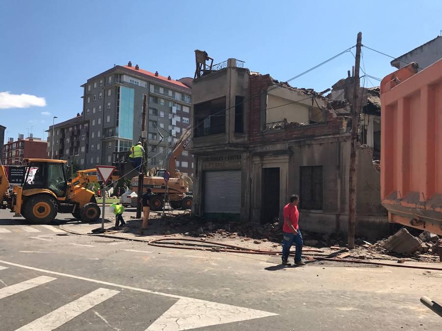 Una demolición en La Puentecilla