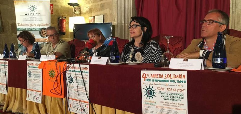 León renueva su compromiso solidario con Alcles en la IV Carrera 'Corre por la vida'