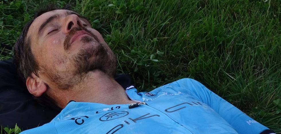 Unos problemas estomacales frenan a Mikel Azparren en busca del récord de las 12 horas en Ponferrada