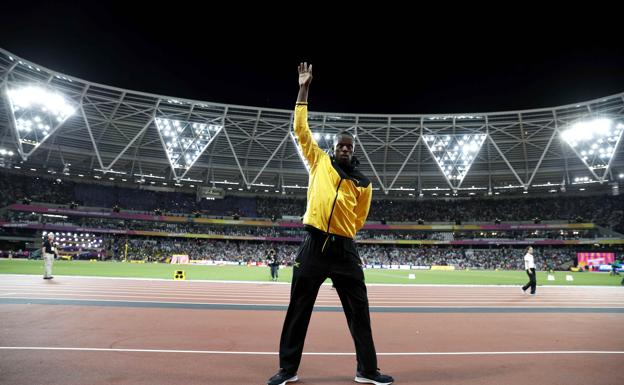 Bolt, en su despedida en Londres.