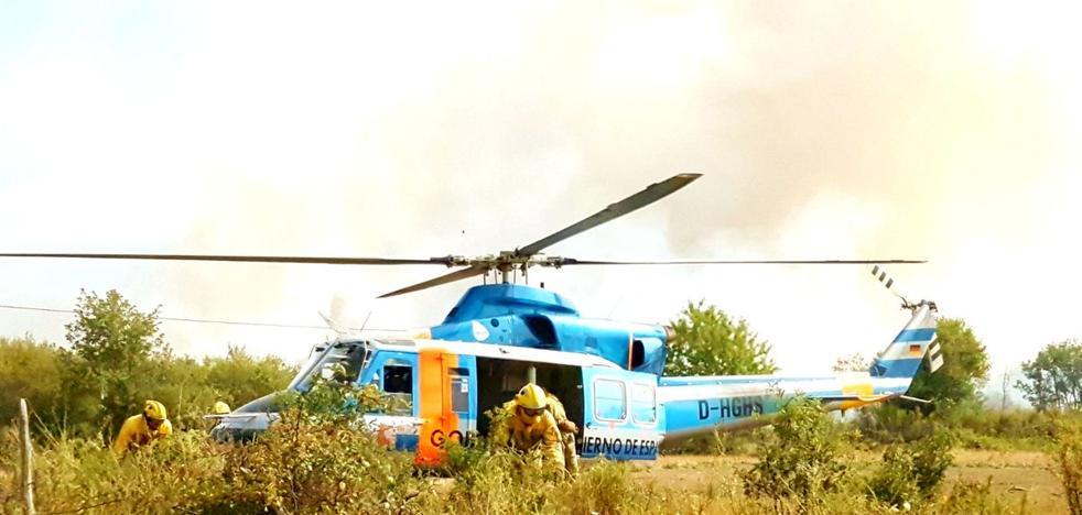 Controlados los tres incendios intencionados declarados ayer en el municipio de Páramo del Sil