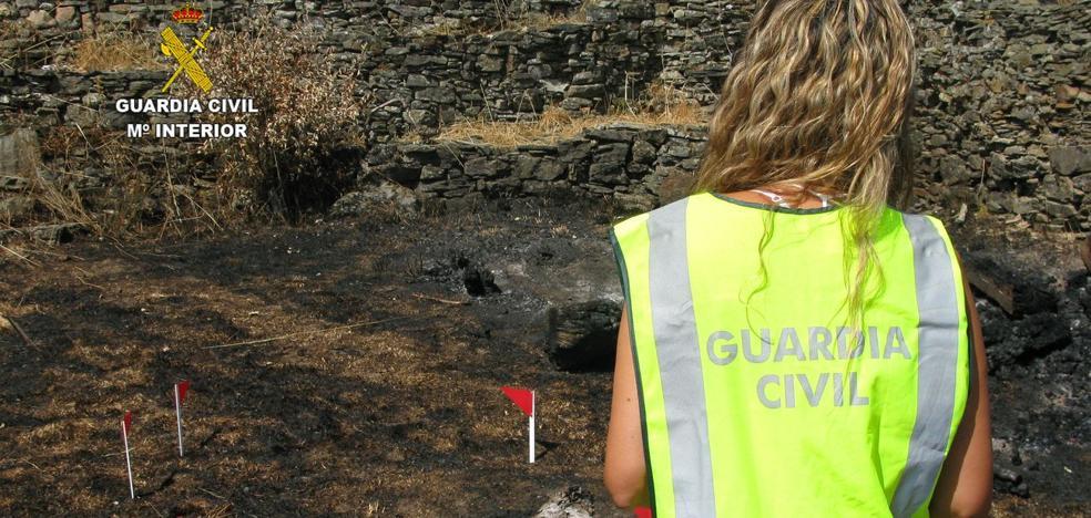 Investigadas tres personas como presuntas autoras de otros tantos incendios que arrasaron 130 hectáreas en la provincia de León