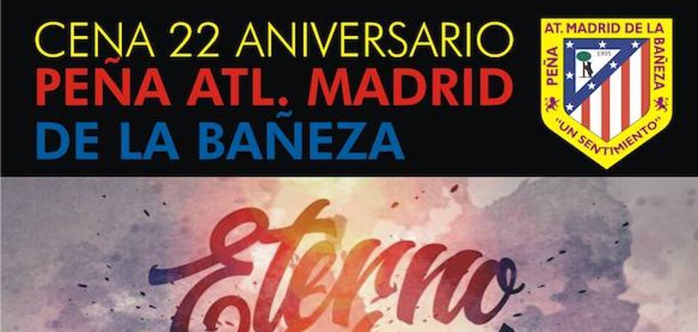 La Peña Atlético Madrid de La Bañeza celebrará su cena anual