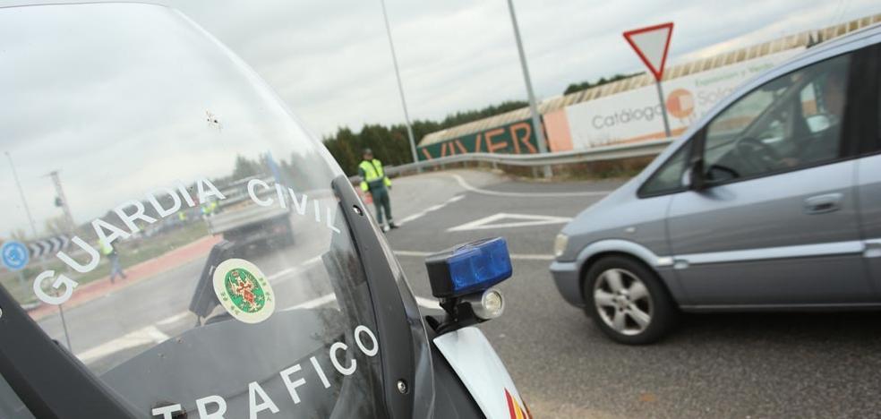 Los detenidos en las carreteras de la Comunidad cae un 41,8% y León alcanza las 330