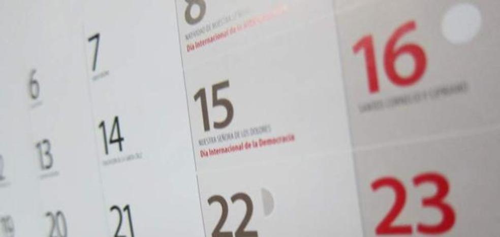 El Bocyl publica el calendario laboral de 2018 con 12 festivos en la Comunidad y dos locales