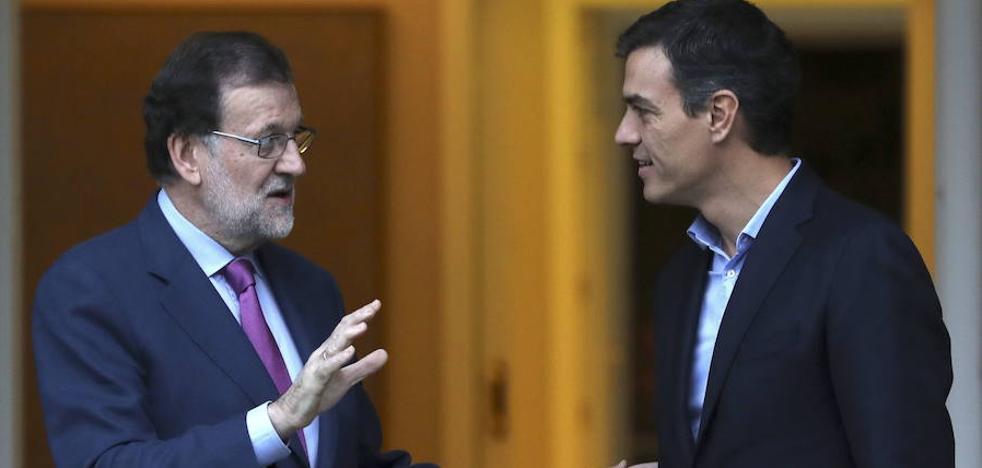 Rajoy, satisfecho del apoyo que le han reiterado Sánchez y Rivera