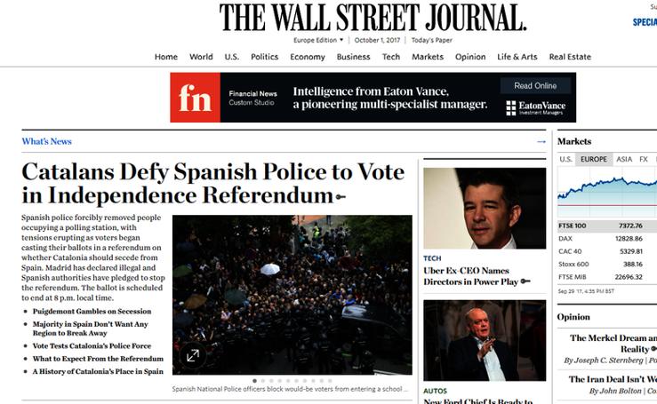 Así sigue el 1-O la prensa extranjera