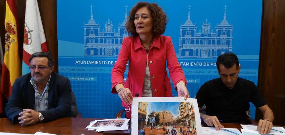Ponferrada invertirá más de 3 millones de euros en las obras del plan de dimanización comercial que finalizarán en primavera