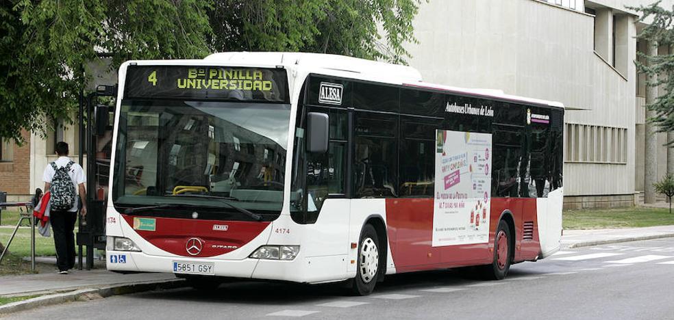 Los usuarios de bus urbano suben en agosto un 2,4%, hasta los 4,18 millones en Castilla y León