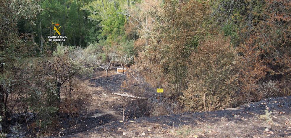 La Guardia Civil investiga a dos personas por los incendios de Olleros de Alba y Villalfeide