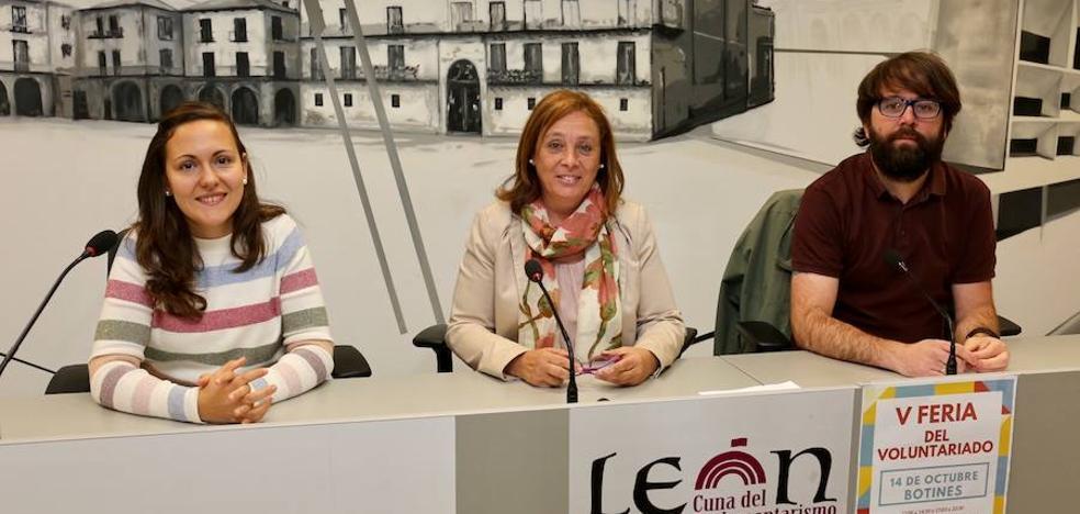 Más de treinta entidades participan el sábado en la V Feria del Voluntariado de León