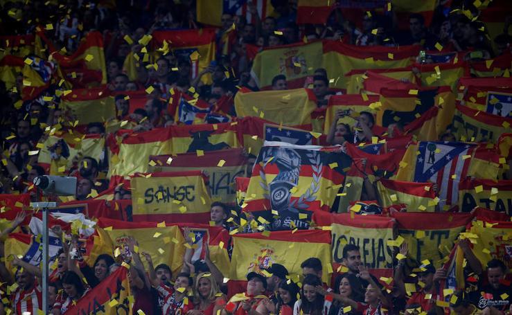 Las banderas españolas del Wanda Metropolitano