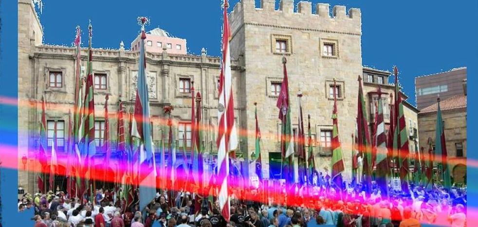Los pendones desembarcan en Gijón