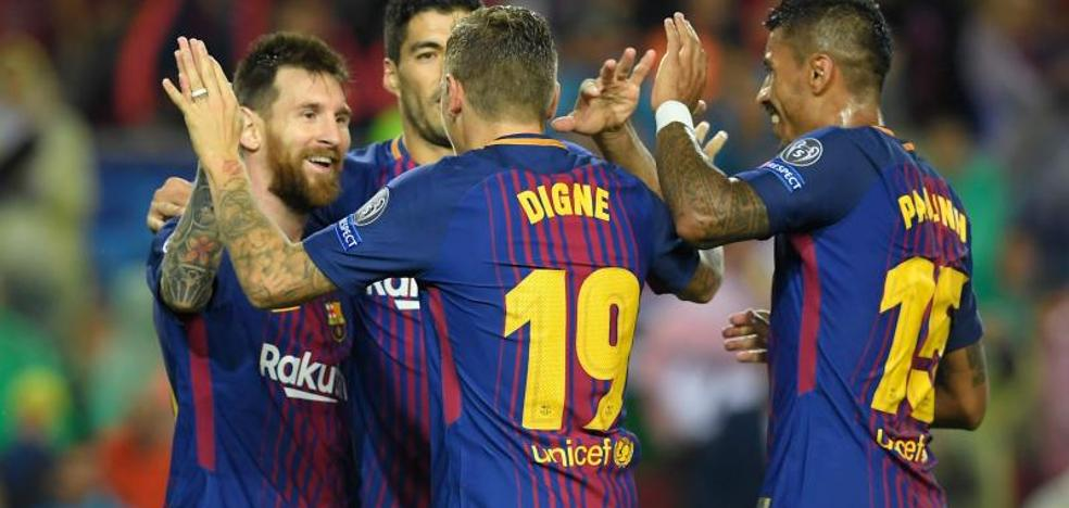 Con el balón, Messi es oro