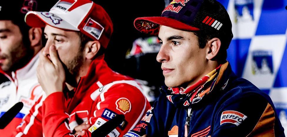 Dovizioso y Márquez se miden tras la fiesta de Motegi
