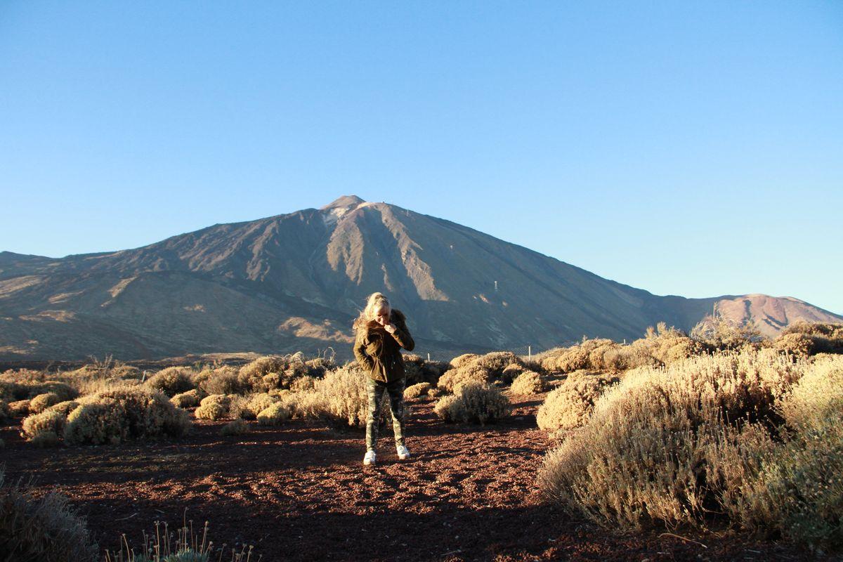 Una leonesa en el Teide
