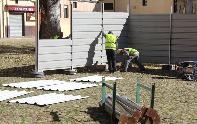 La obra de la Plaza del Grano entra en 'fase terminal' con la gran cata central