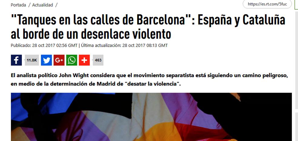 El Gobierno español acusa por primera vez a Rusia de interferir en la crisis catalana