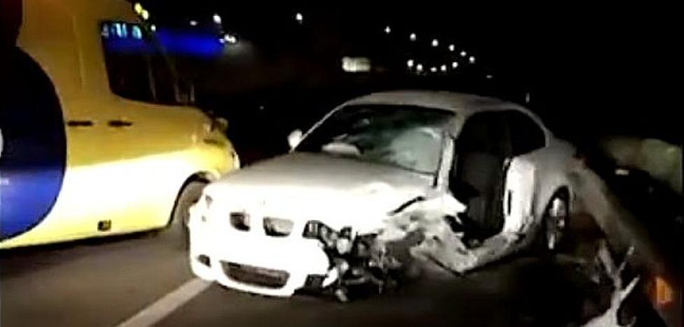 Un kamikaze provoca un accidente con seis heridos que corta la autovía A-66 en sentido León