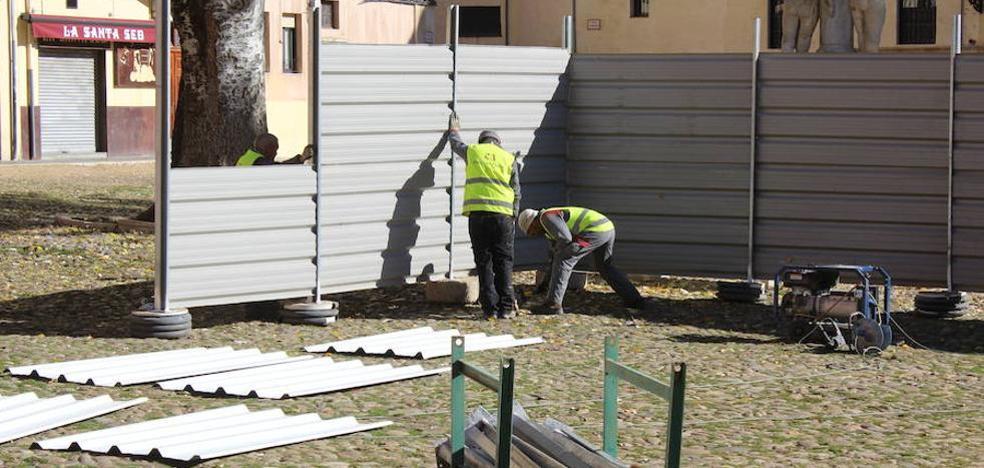 Las obras de la Plaza del Grano «continuarán» pese a la petición del proyecto del Ministerio de Cultura