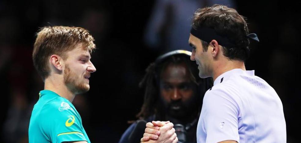 Goffin baja de las nubes a Federer