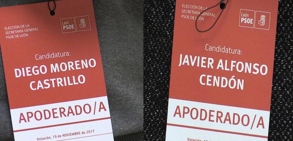 Javier Cendón y Diego Moreno confían en liderar el PSOE leonés y tienden la mano a su rival a integrar su ejecutiva
