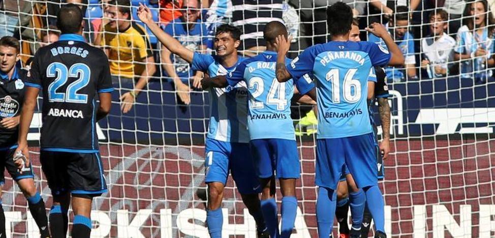 El Málaga y Míchel ya respiran mejor