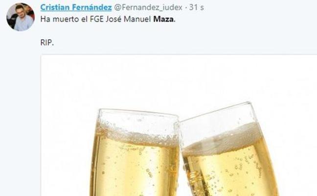 Podem inicia los trámites para expulsar a dirigente que celebró en Twitter la muerte de Maza