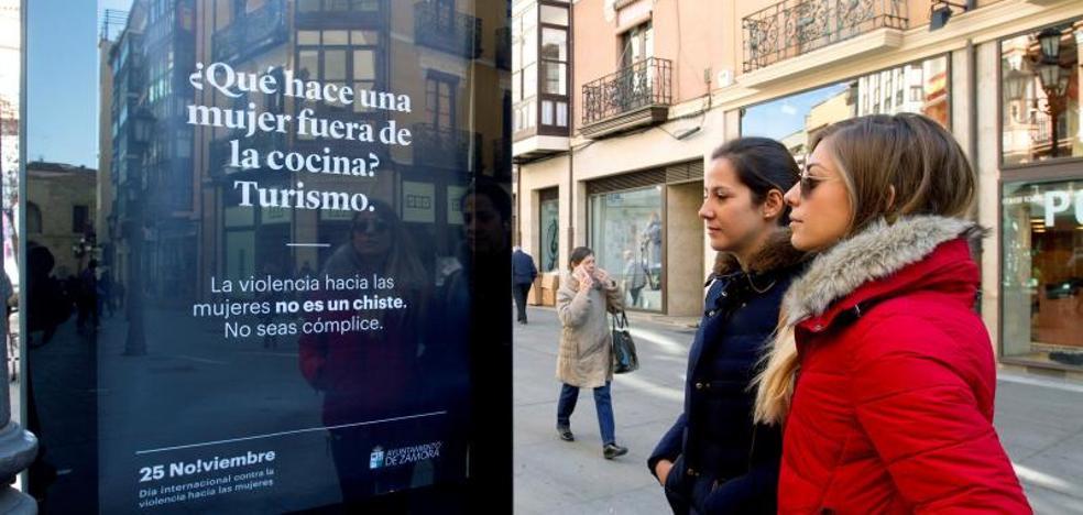 La campaña contra la violencia machista en Zamora no hace gracia