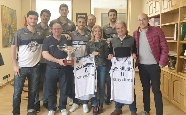 Gancedo recibe al CB San Andrés tras proclamarse vencedor de la Copa Castilla y León