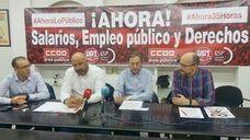 CCOO y UGT convocan una concentración bajo el lema 'Ahora: salarios, empleo público y derechos'