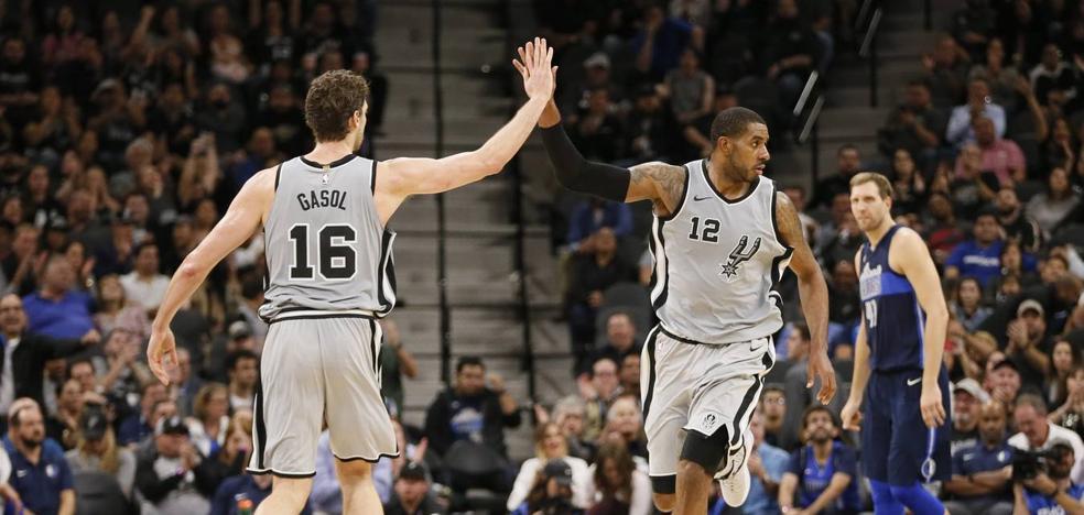 Aldridge y Pau Gasol lideran el triunfo de los Spurs