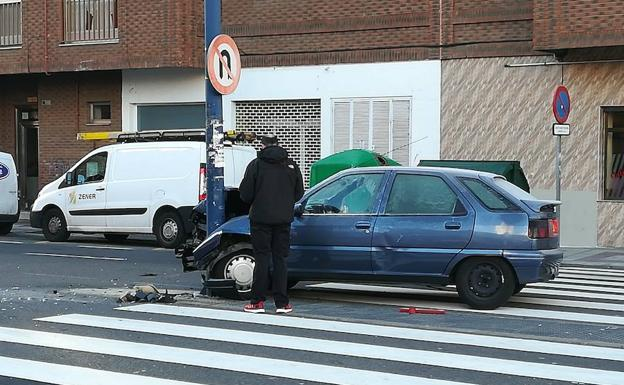 Dos accidentes en la capital leonesa se saldan sin heridos graves