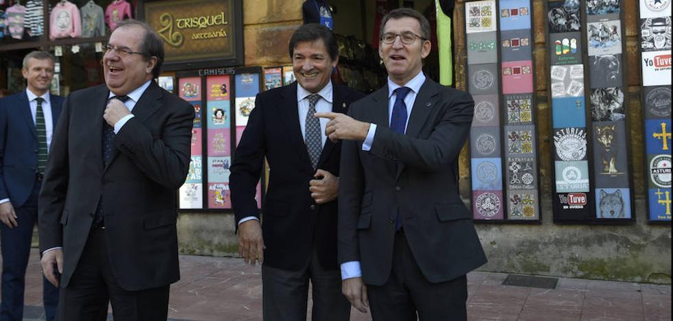 Los presidentes de Asturias, Castilla y León y Galicia piden una financianción basada en la igualdad