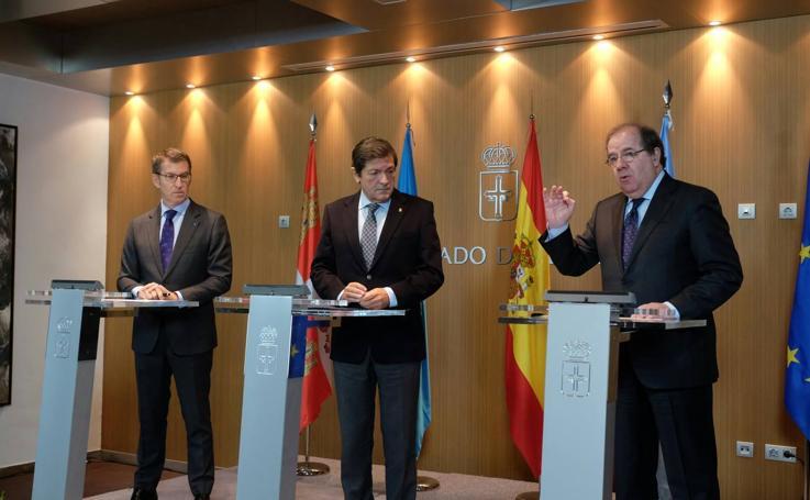 Cumbre de presidentes de Castilla y León, Asturias y Galicia en Oviedo