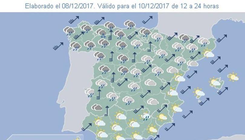 'Ana' traerá a Castilla y León vientos de 110 kilómetros por hora