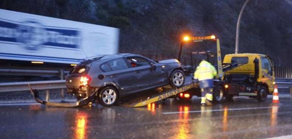 Tres accidentes sin heridos de gravedad en la autopista del Huerna