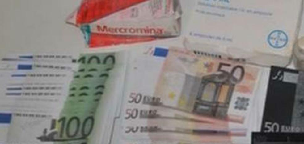 Alerta por el timo de los billetes tintados