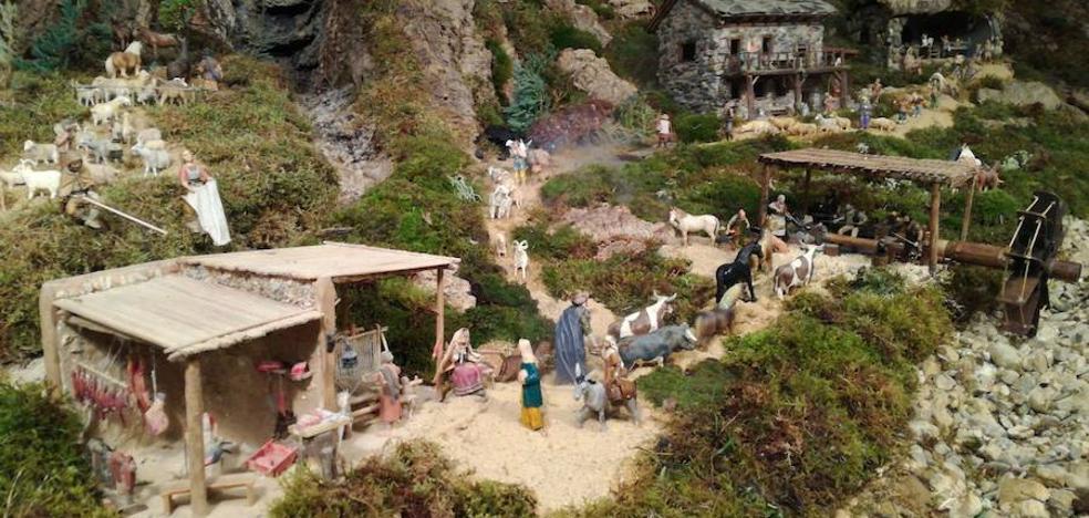 Cerezales del Condado da la bienvenida a la Navidad con su famoso y esperado belén
