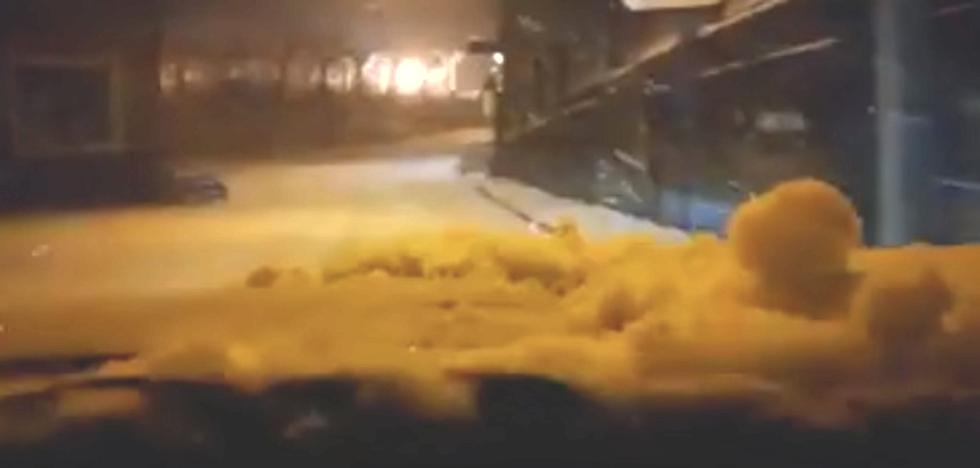 Avanzando entre la nieve