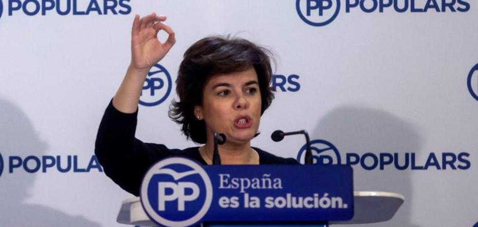 Santamaría pide «liquidar» a un independentismo «descabezado» por Rajoy